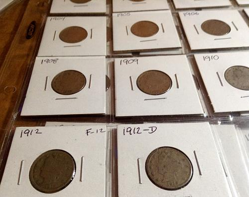 14 Liberty Head Nickel Coin Run from 1900-1912-D  AG-Good Circulated condition.