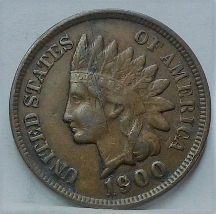 1900 Indian Head Cent Cent  Fine ( 913)
