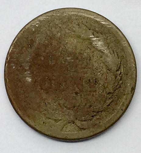 1859 Indian head Cent - Laurel Wreath Reverse Without Shield