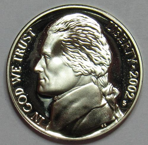 2002 S Proof Jefferson Nickel
