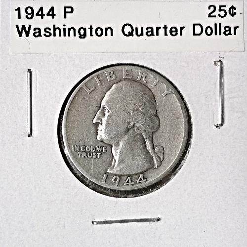 1944 P Washington Quarter Dollar - 6 Photos!