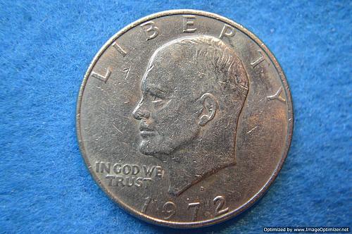 1972 D Eisenhower Dollars