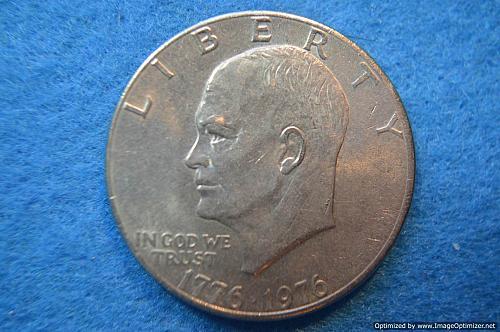 1976 P Eisenhower Dollars: Type 2 - Sharp Design - Delicate Lettering