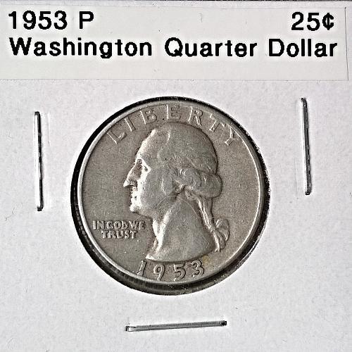 1953 P Washington Quarter Dollar - 6 Photos!