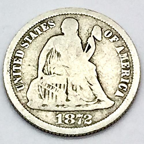 1872 Seated Liberty Dime