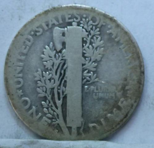 1918-S Very Good Mercury Dime   ( 4235)