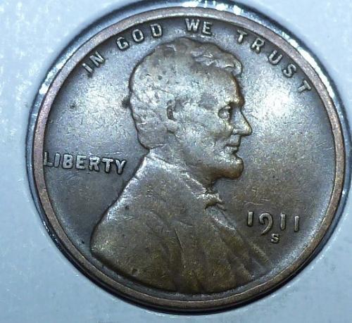 1911-S Very Fine Lincoln Wheat Cent ( # 217)