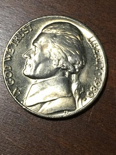 1980 Jefferson Nickel Item 0219184