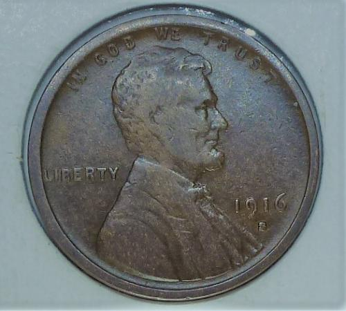 1916-S Very Fine Lincoln Wheat Cent ( # 229 )