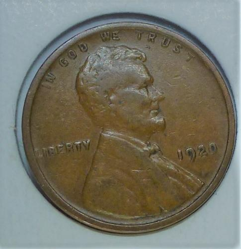 1920-P Very Fine Lincoln Wheat Cent ( # 235 )