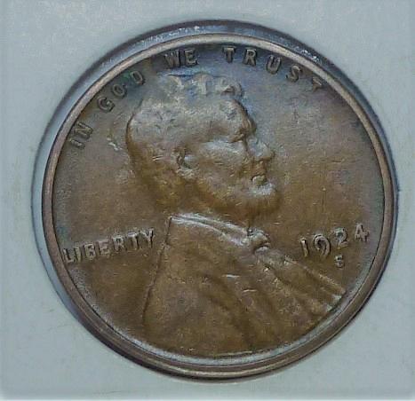 1924-S Very Fine Lincoln Wheat Cent ( # 230 )