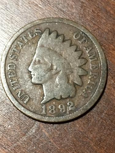 1892 Indian Head Cent Item 0219213
