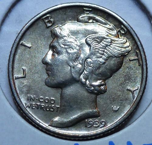 1939-P Uncirculated  Mercury Dime  Unc ( 4417)