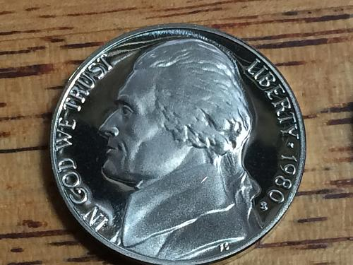 1980 S Jefferson Nickel Proof