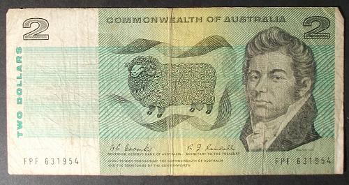 Australia P38b 2 Dollars VG