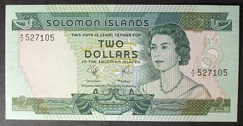 Solomon Islands P5a 2 Dollars UNC65