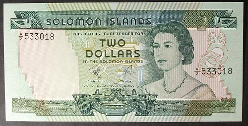 Solomon Islands P5a 2 Dollars UNC63