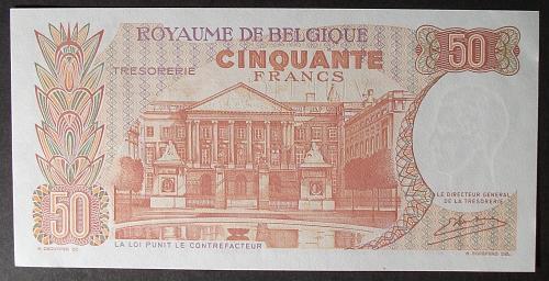 Belgium P139 50 Francs AU55