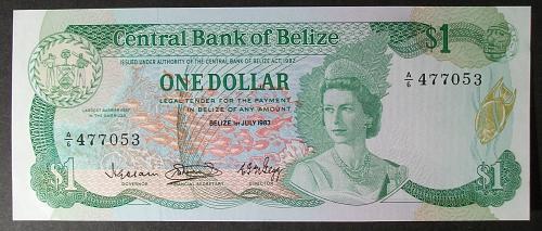 Belize P43 Dollar UNC63