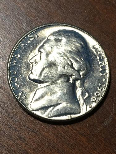 1968 D Jefferson Nickel Item 0219275
