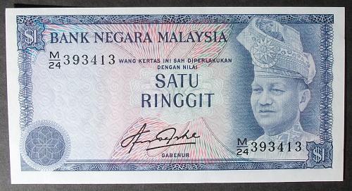 Malaysia P1a Ringgit UNC60