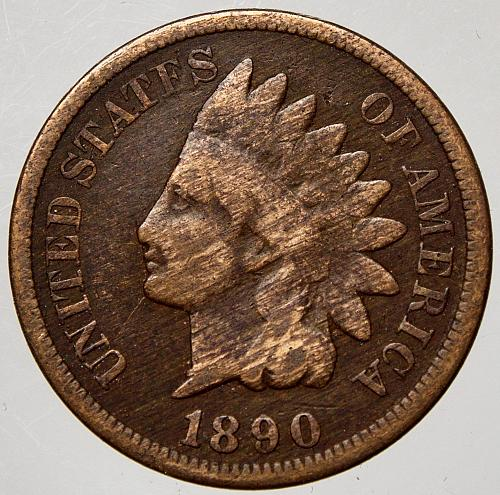 1890 P Indian Head Cent #7