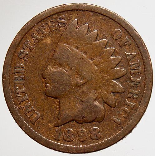 1898 Indian Head Cent #19 RPD 8/8