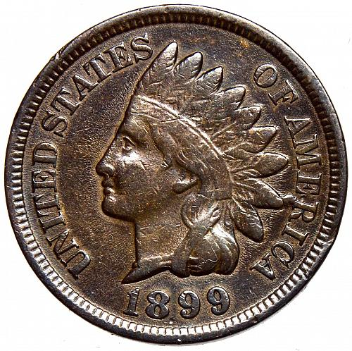 1899 P Indian Head Cent #20   BV $95   Snow 6  RPD-006