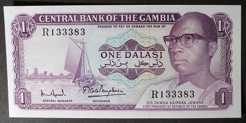 Gambia P4f Dalasi AU55