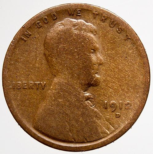1912 D Lincoln wheat Cent#4