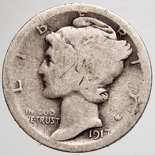1917 P Mercury Dime #2