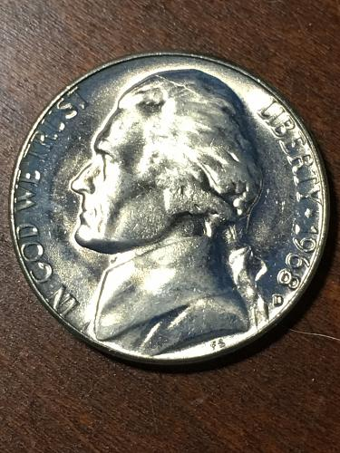 1968 D Jefferson Nickel Item 0219281
