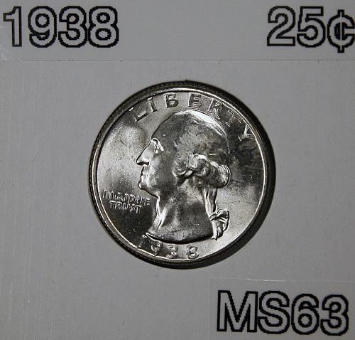 1938 Washington Quarter