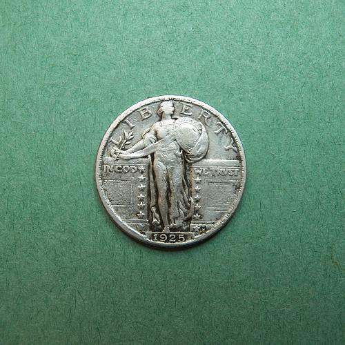 1925 P Standing Liberty Quarter Very Fine Coin   s42