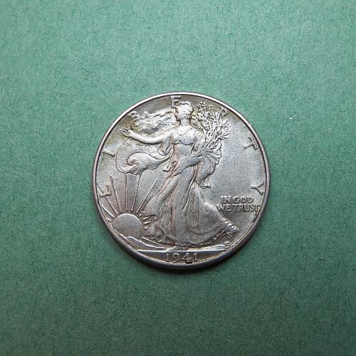 1941 D Walking Liberty Half Dollar   s54
