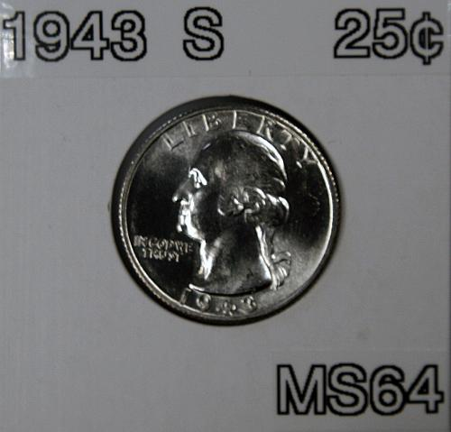 1943 S Washington Quarter