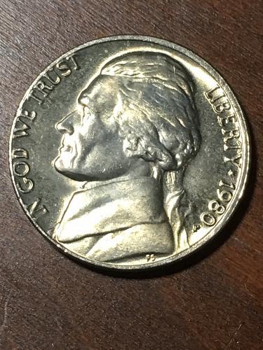 1980 Jefferson Nickel Item 0219293