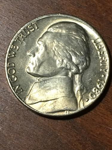 1980 Jefferson Nickel Item 0219294