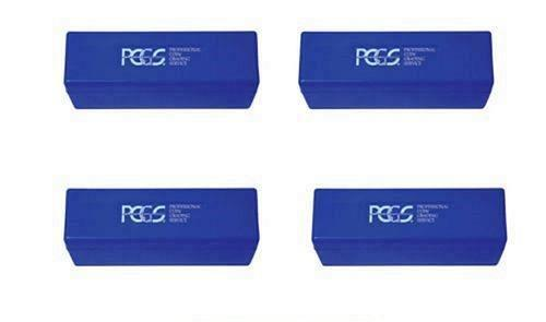 Lot of 4 Blue PCGS Storage Boxes(used). Each Holds 20 Coins.