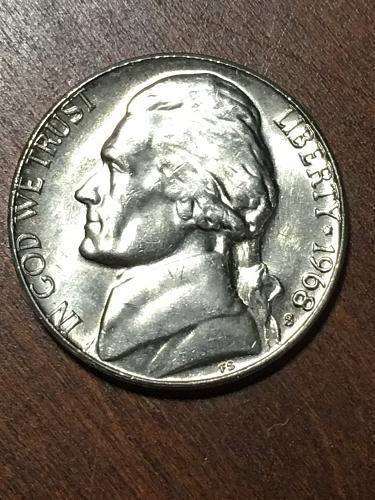 1968 S Jefferson Nickel Item 0219299
