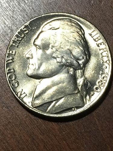 1980 Jefferson Nickel Item 0219301