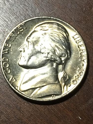 1980 Jefferson Nickel Item 0219302