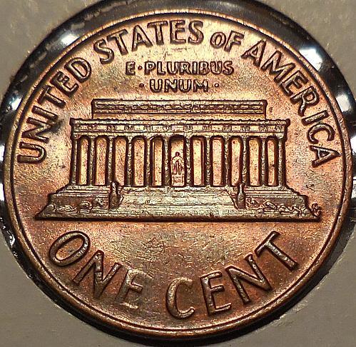 1971-P Cent Struck Through a Late Stage Die Cap