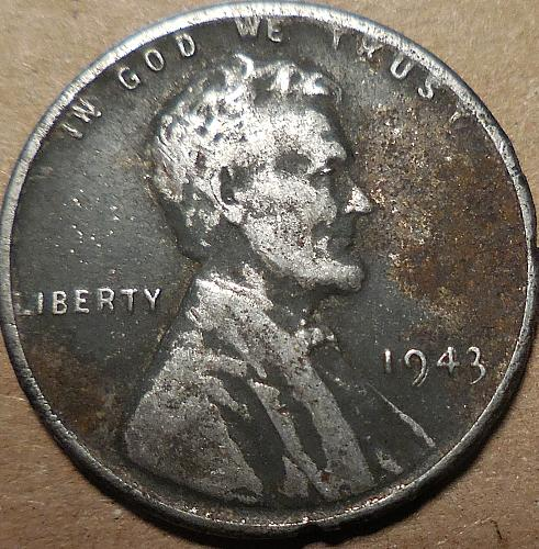 1943-P Lincoln Steel Wheat Cent