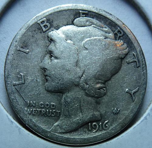 1916-S Very Fine Mercury Dime   ( 266)