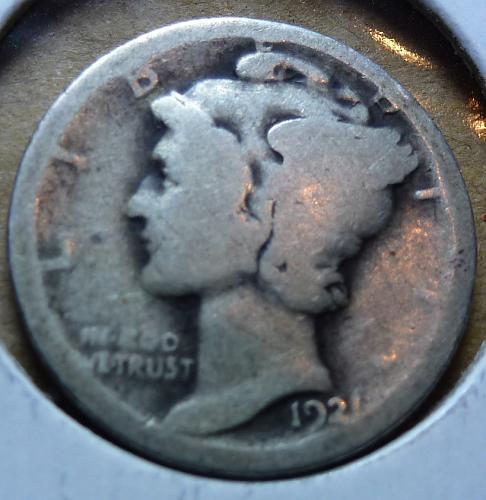 1921-P Good Mercury Dime G ( 282 )