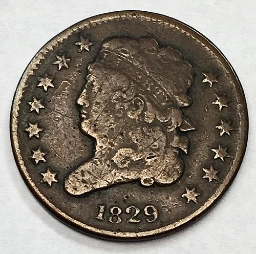 1829 Classic Head Half Cent