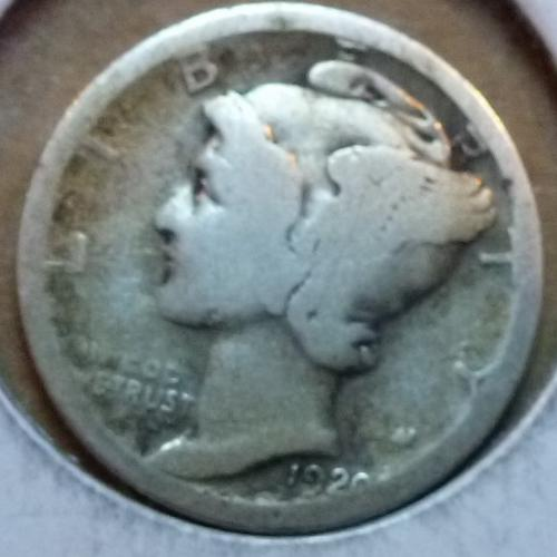 1920-S Good Mercury Dime G Graded ( 899 )