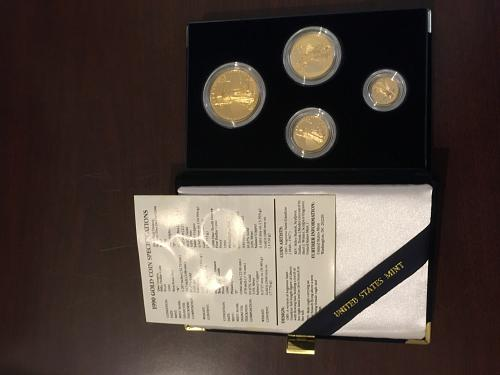 1990 4 coin proof set