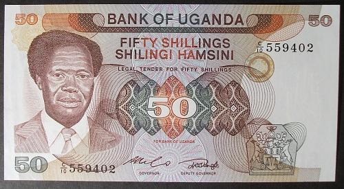 Uganda P20 50 Shillings UNC62
